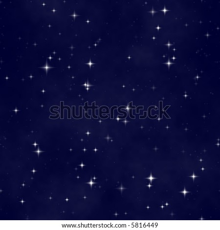 star night sky, abstract cosmic seamless background - stock photo