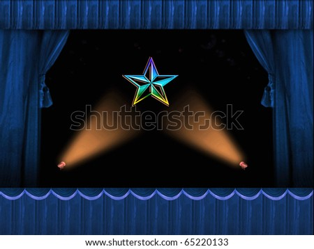 Star of Stage and Theatre - stock photo