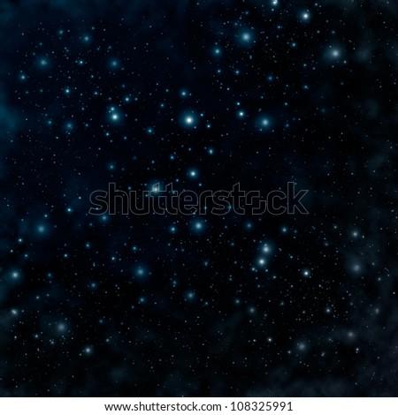 Star on a night sky - stock photo
