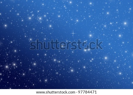 Star on night sky