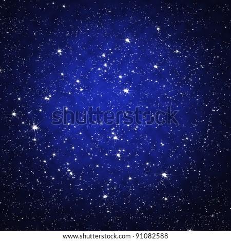 Star on sky at night - stock photo
