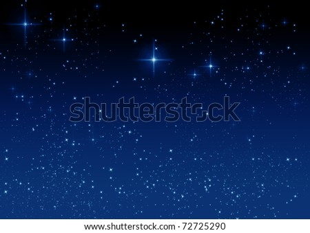 Star on the dark blue background - stock photo