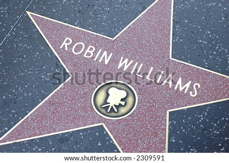 Star on the Hollywood walk-of-fame - stock photo