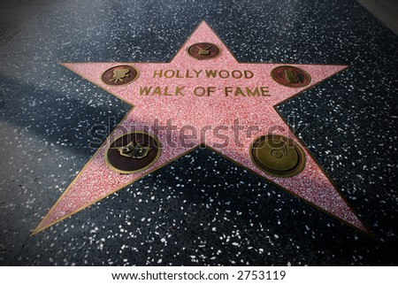 Star on the Hollywood Walk of Fame, Hollywood, California, USA - stock photo
