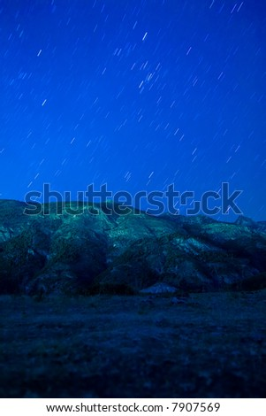 Star raining in the middle of nowhere. - stock photo