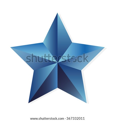 Star sapphire. illustration, isolated object on white background - stock photo