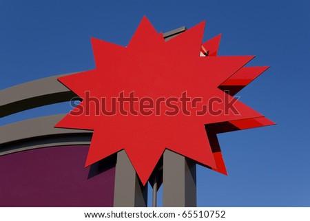 star shape advertising sign - stock photo