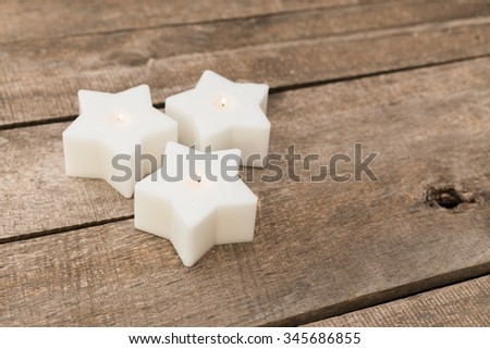 Star shaped candles