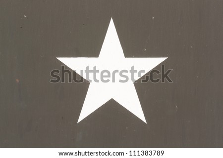 Star Symbol on a Vietnam war US Military Vehicle, isolated