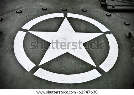 Army Star Symbol Star Symbol on a Wwii us