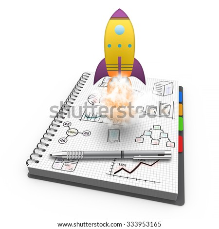 Star tup, launching new business as concept - stock photo