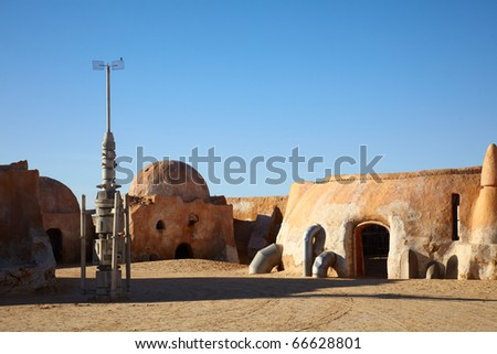 Star Wars film set from the Sahara, Tunisia - stock photo