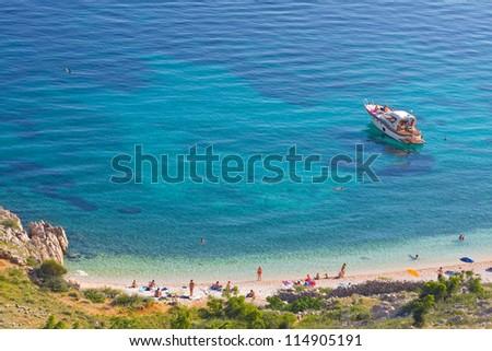 Stara Baska beach, Croatia - stock photo