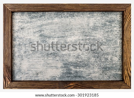 Staraya frame and background soiled with chalk - stock photo