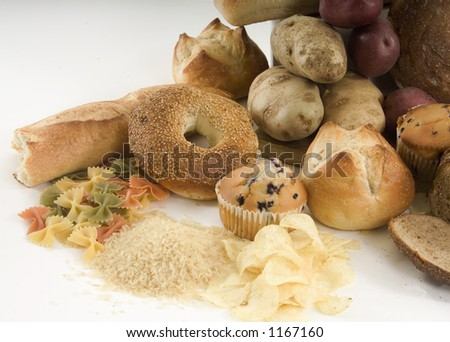 Starchy foods - stock photo