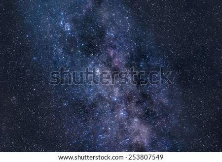 Stardust of Milky Way - stock photo
