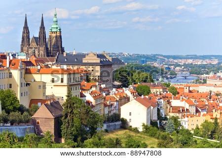 Stare Mesto (Old Town) view, Prague, Czech Republic - stock photo