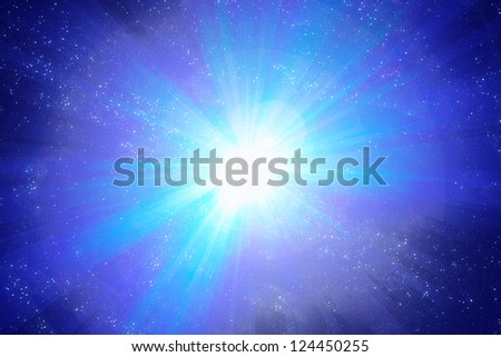 Starfield Explosion - stock photo