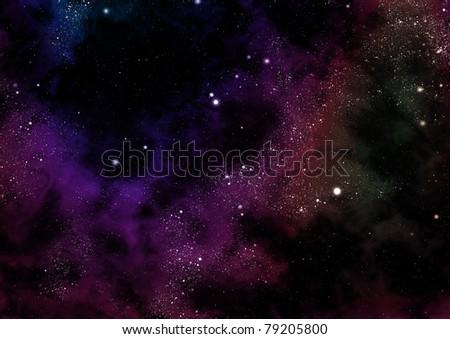 starfield fabula rise - stock photo