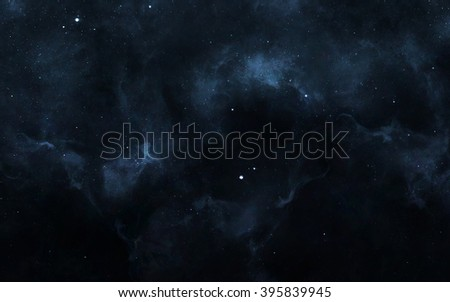 Starfield in deep space many light years far from the Earth. Elements of this image furnished by NASA - stock photo