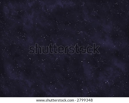 Starfield series: empty space. - stock photo
