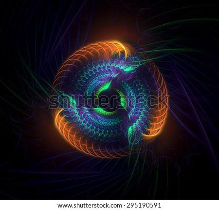 Stargate Torus abstract illustration - stock photo