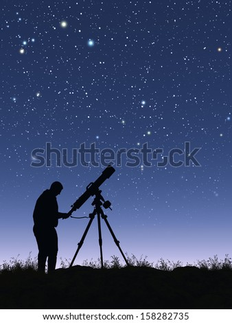 Stargazer - stock photo