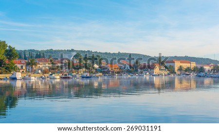Stari Grad cityscape, Croatia - stock photo