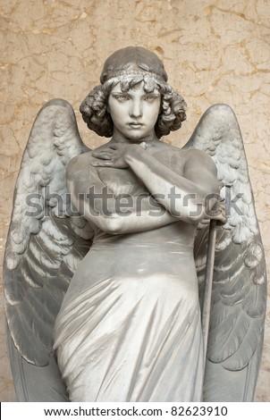 staring angel - stock photo