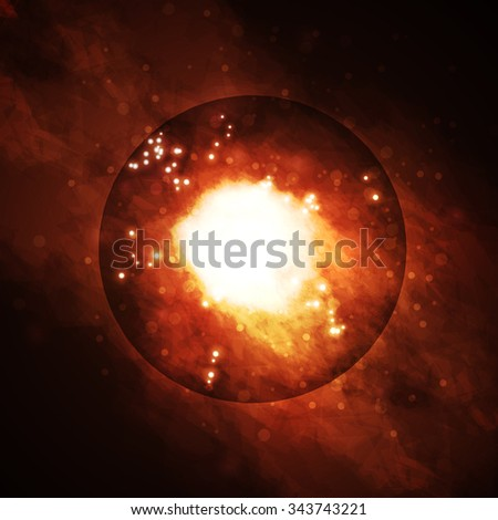 Starry background, rich star forming nebula, colorful abstract illustration