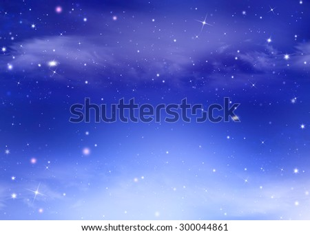 Starry dreamlike festive background