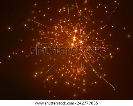 starry fireworks display in dark back