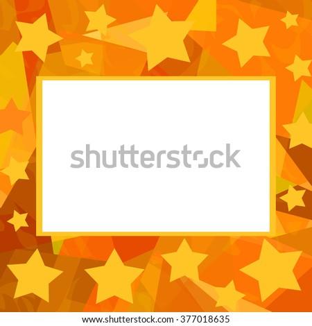 Starry frame - stock photo