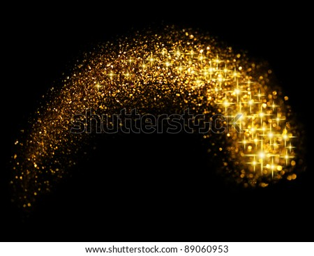 Starry Glitter Trail Background - stock photo