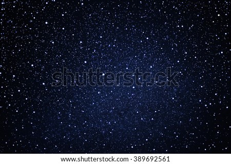 starry in the blue night sky  - stock photo