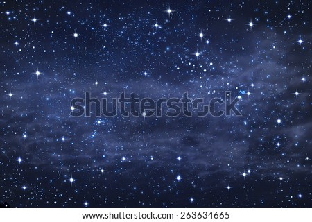 starry in the night sky background,abstract - stock photo