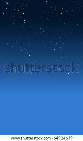 Starry night - stock photo