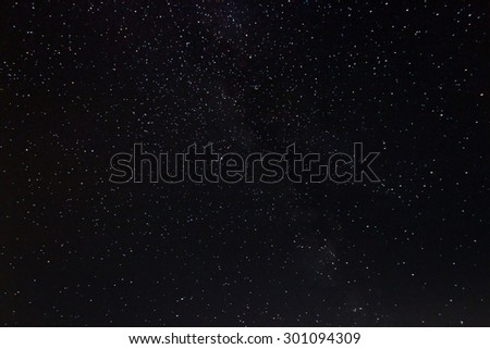 Starry night Aquila, the Eagle constellation Beautiful night sky  - stock photo