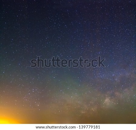starry night background - stock photo