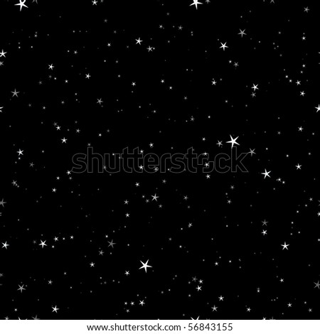 Starry night seamless pattern - stock photo
