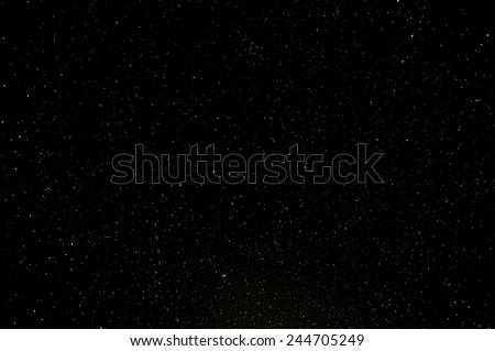 Starry Night Sky with a lot of Stars Background - stock photo