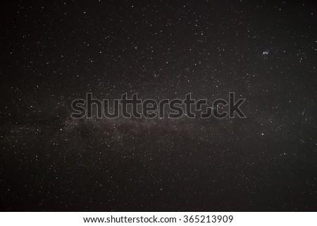 Starry Night Sky with Milki way galaxy background - stock photo