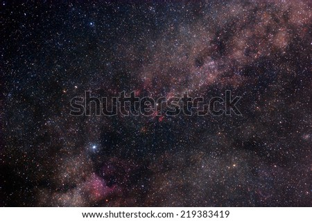 Starry outer space - stock photo