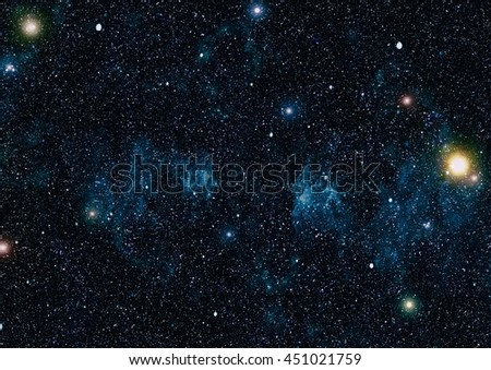 Starry outer space