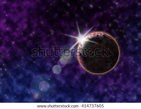Starry outer space background texture. Cosmic background