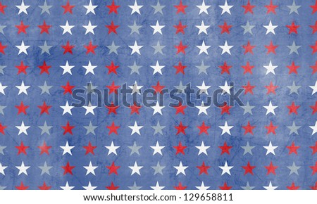 Starry Patriotic Scrapbook Background