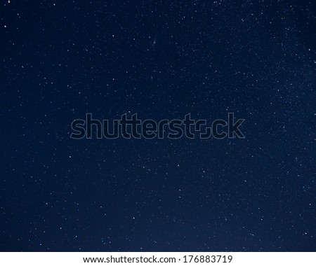 Starry sky at night - stock photo