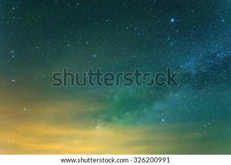 starry sky background - stock photo