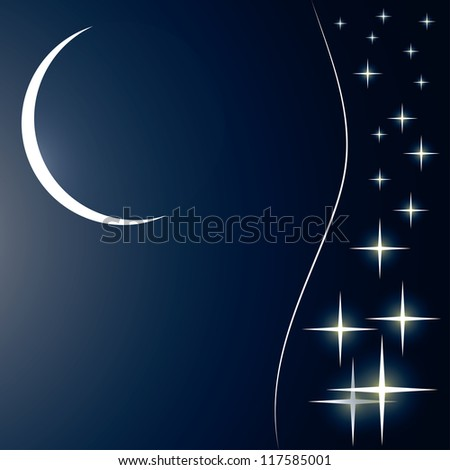 starry sky cosmic background (vector version also available in my gallery) - stock photo