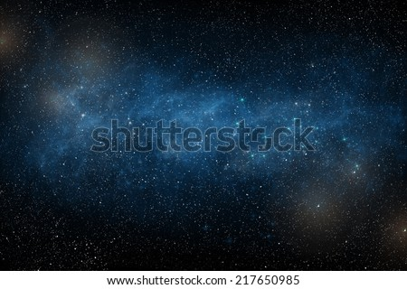 Starry sky. Galaxy - stock photo